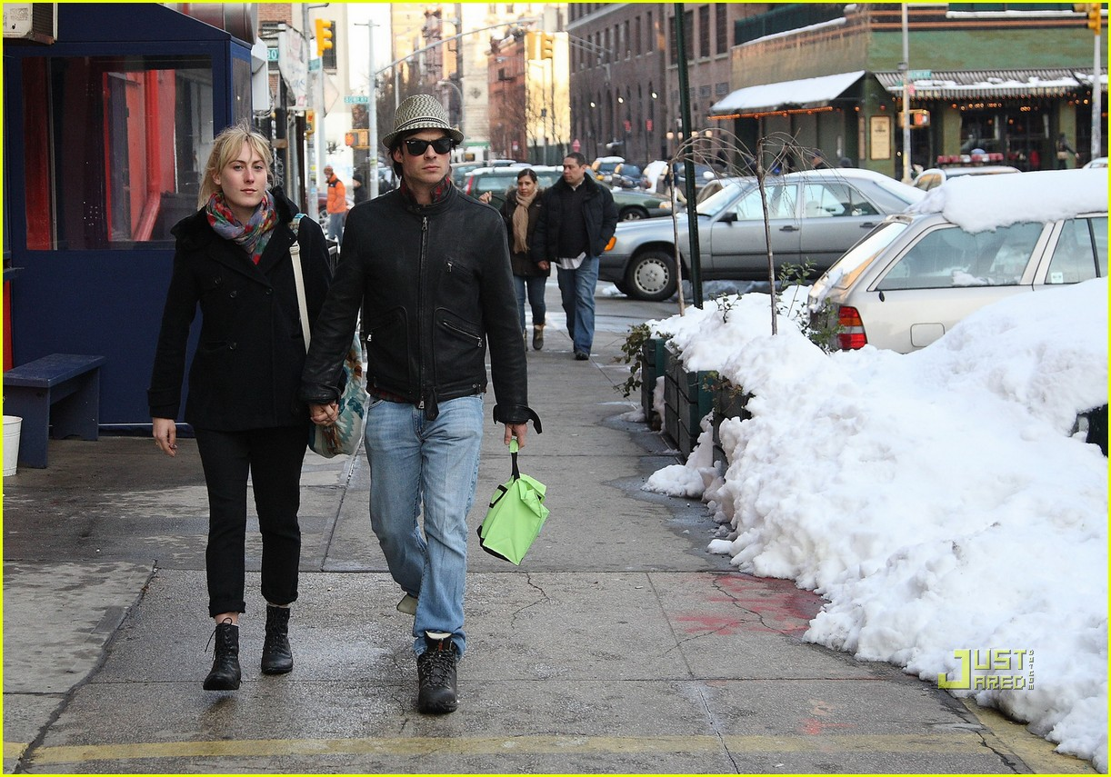 megan auld ian somerhalder. Actor Ian Somerhalder walks