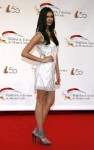 Actress Nina Dobrev poses during the opening ceremony of the 50th Monte Carlo television festival in Monaco